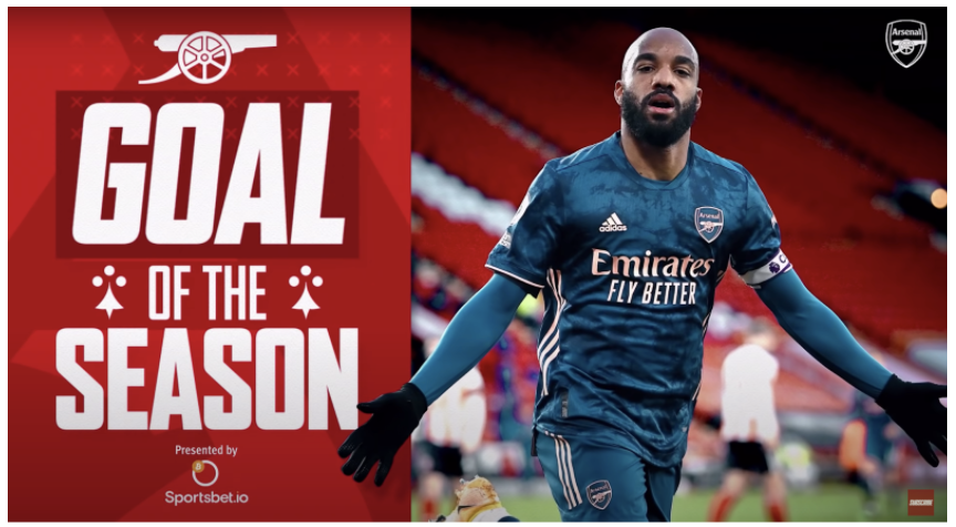 Example of an EPL branded content campaign for goal of the season, month or week.