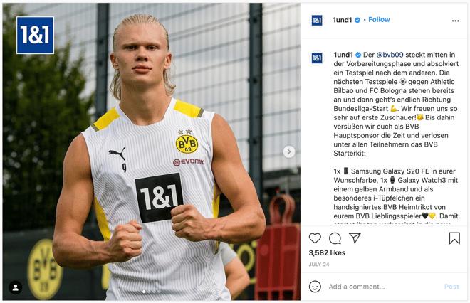 Example of how Borussia Dortmund increased brand awareness on social media