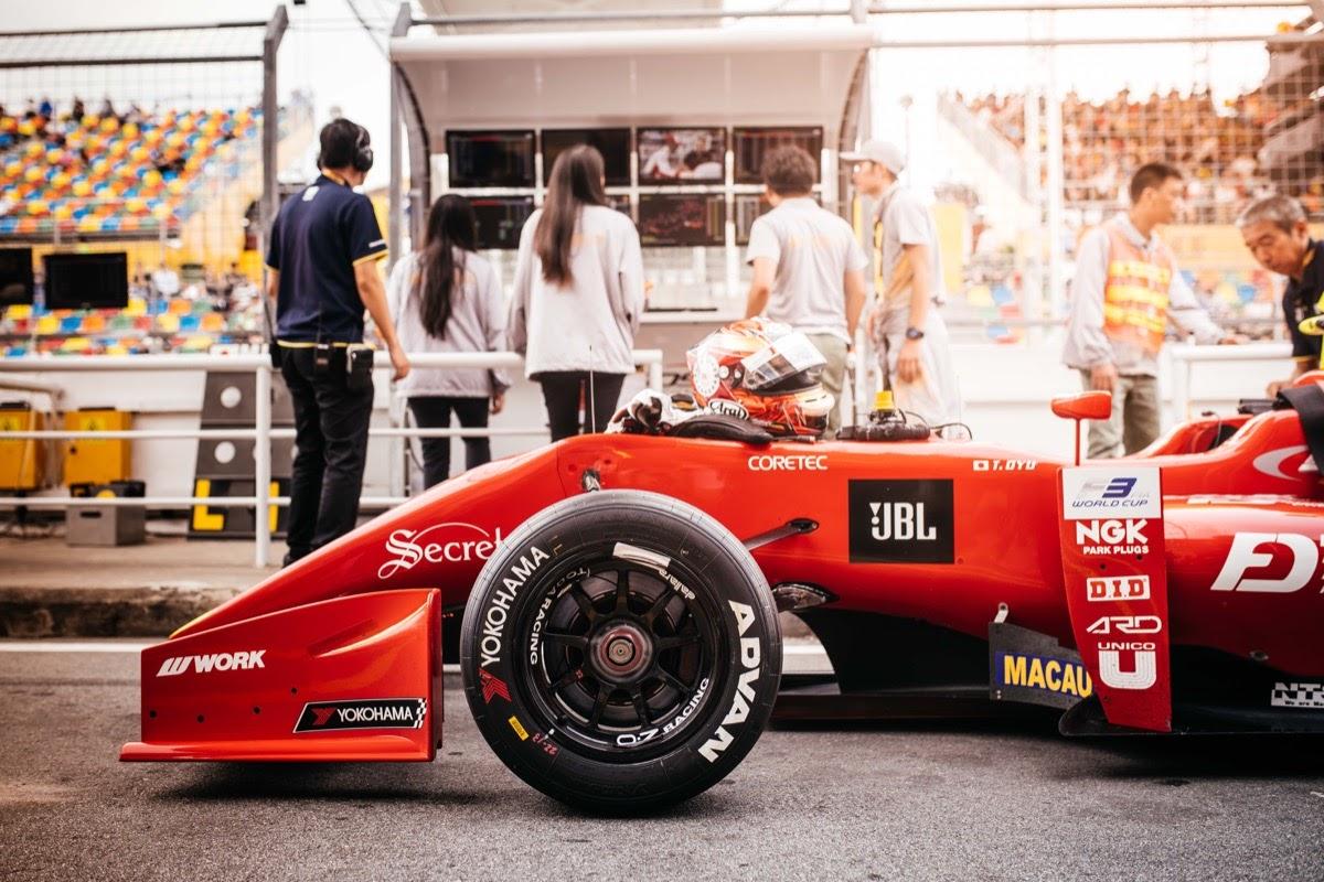 formula-one car with logos; media value equivalency concept