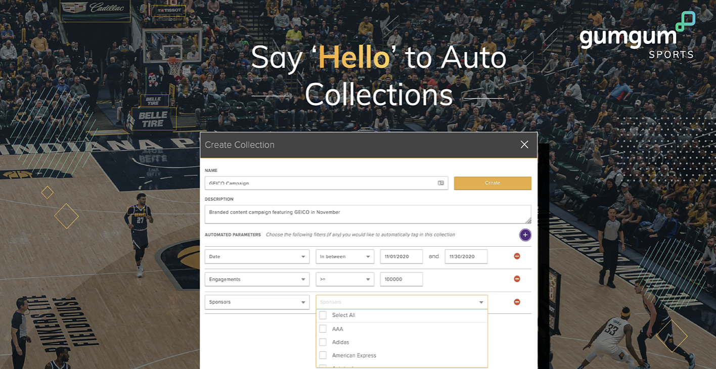 Save time and increase sponsorship impact with Auto Collections